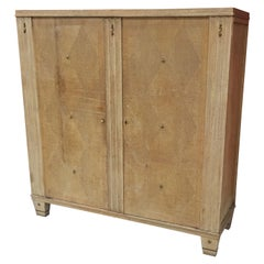 Wardrobe Art Deco / 1940 in Bleached Oak, Patina to Redo