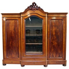 Wardrobe Bookcase Antique Baroque Cabinet Showcase Extra-Large