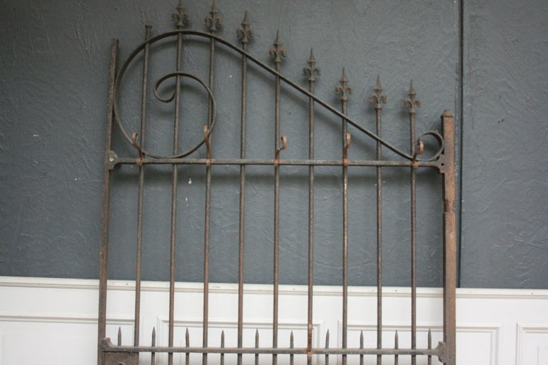 Wardrobe Coat Rack Made of Antique Wrought-Iron Gate For Sale 4