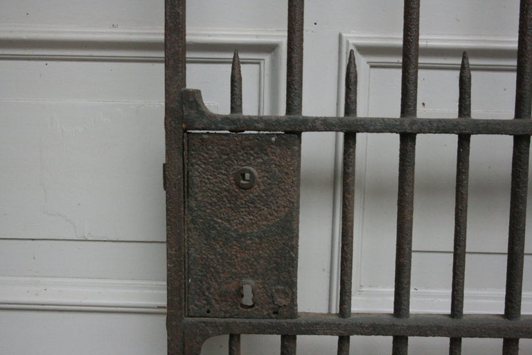 Wardrobe Coat Rack Made of Antique Wrought-Iron Gate For Sale 6