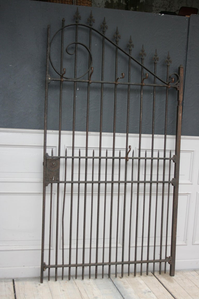Country Wardrobe Coat Rack Made of Antique Wrought-Iron Gate For Sale