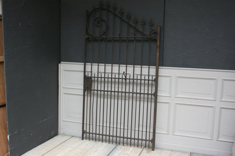 European Wardrobe Coat Rack Made of Antique Wrought-Iron Gate For Sale
