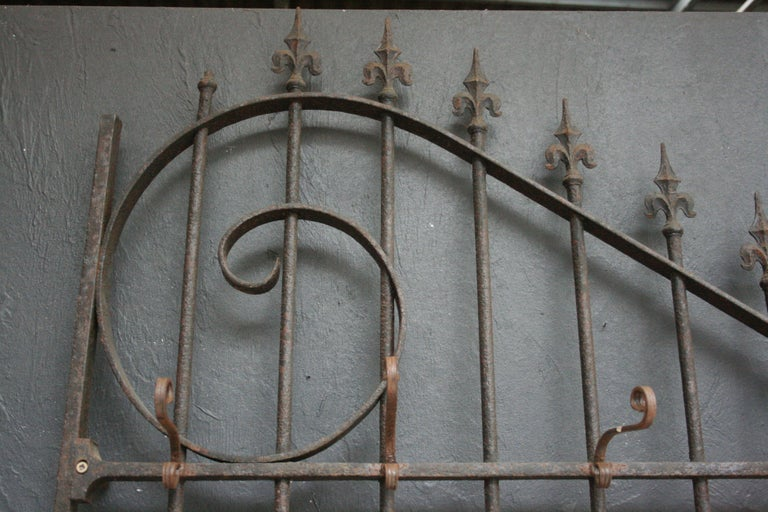 Wardrobe Coat Rack Made of Antique Wrought-Iron Gate For Sale 1