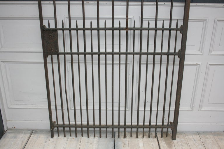 Wardrobe Coat Rack Made of Antique Wrought-Iron Gate For Sale 3