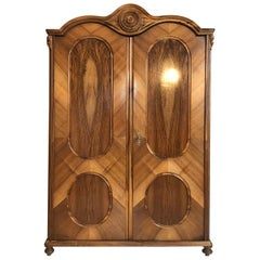 Wardrobe or Bookcase Cabinet Old Vienna, Early 20th Century