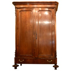 Wardrobe or Closet, Walnut, Metal, 19th Century