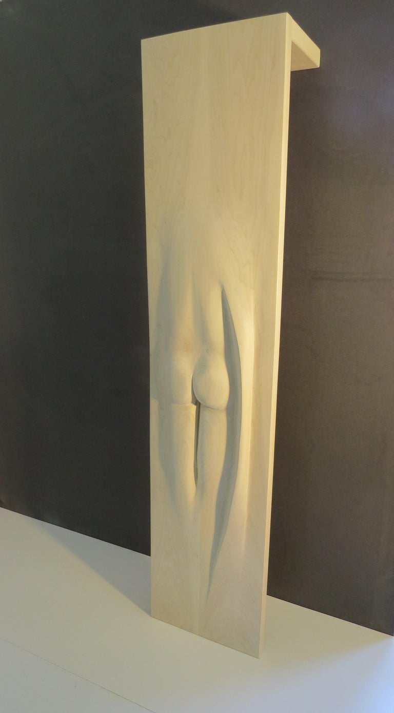 Coat Rack, Solid Wood, Sensual Act, one-of-a-kind, Handcrafted in Germany For Sale 4