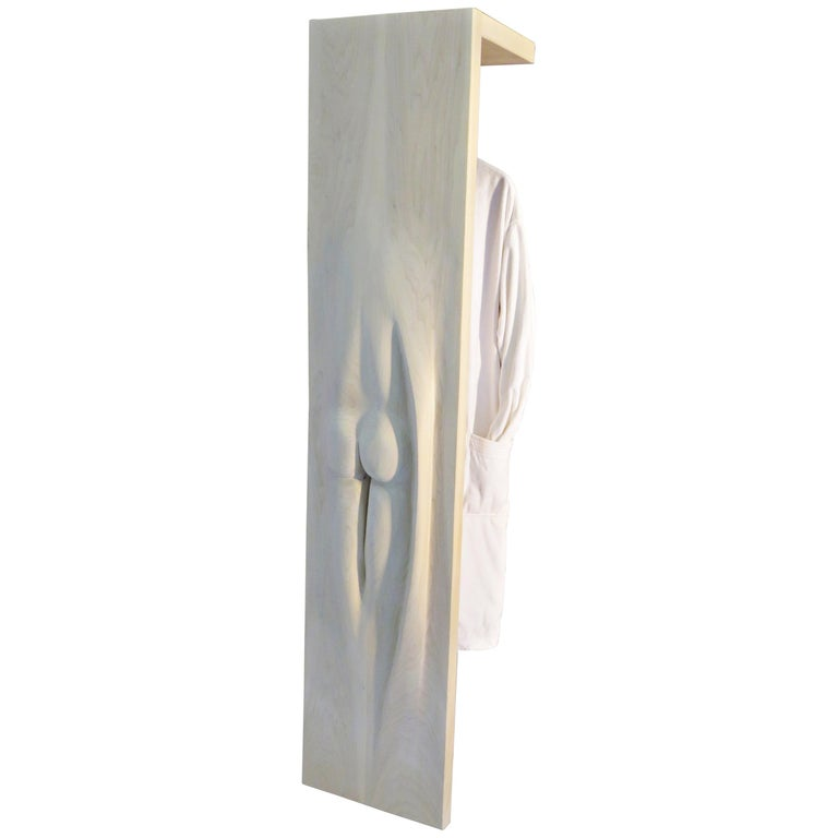 Coat Rack, Solid Wood, Sensual Act, one-of-a-kind, Handcrafted in Germany For Sale