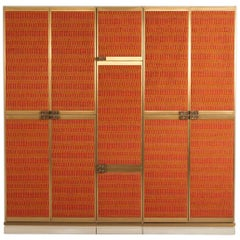 Wardrobe with Bronze Handles, Luciano Frigerio