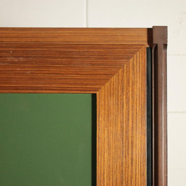 Wardrobe Wood and Teak Veneer Vintage, Italy, 1960s In Good Condition For Sale In Milano, IT