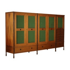 Wardrobe Wood and Teak Veneer Vintage, Italy, 1960s
