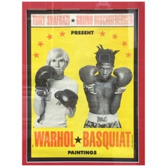 Warhol Basquiat Exhibition Poster, 1985