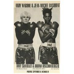Warhol Basquiat Shafrazi Boxen Werbung, 1985