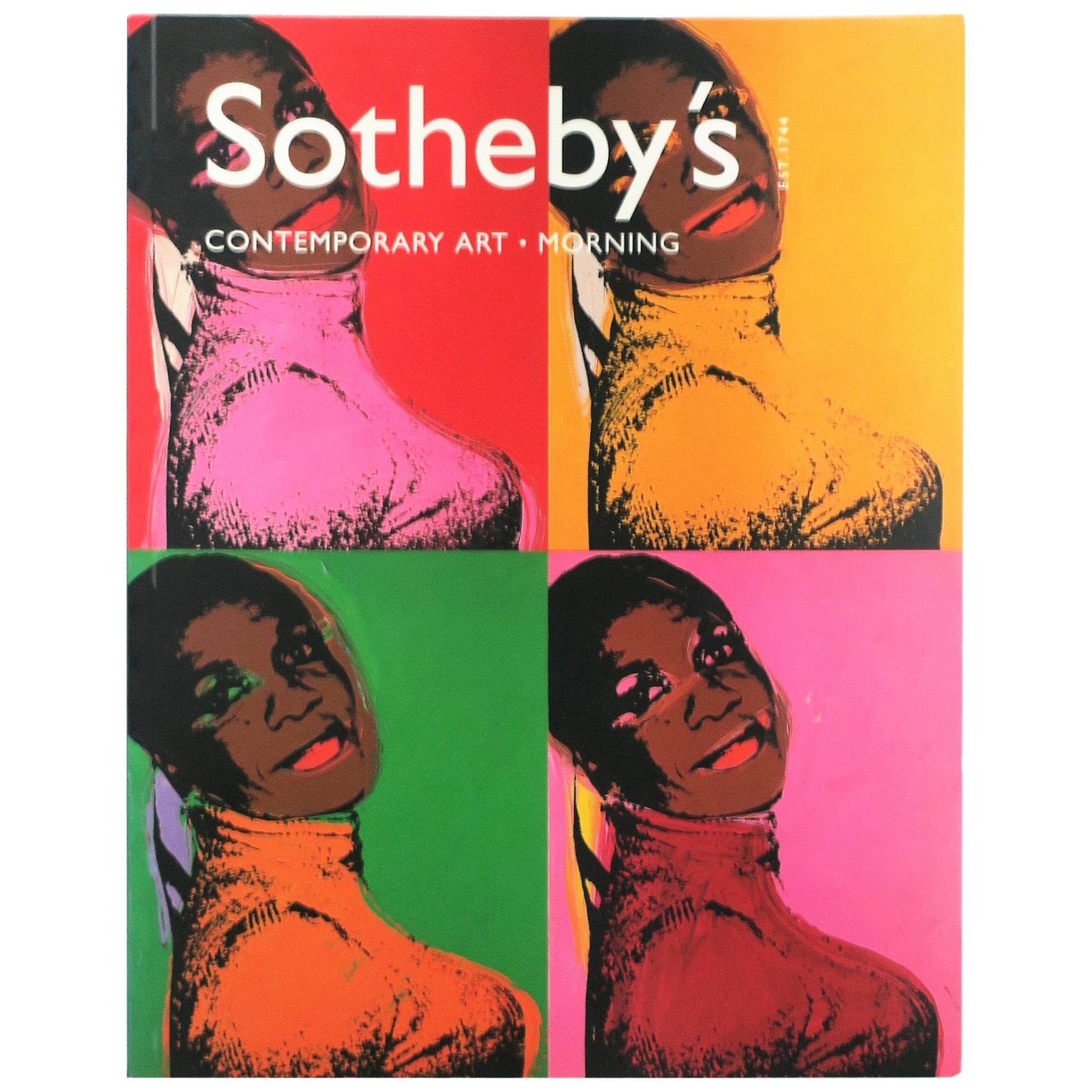 Warhol Cover Contemporary Art Sotheby's New York Catalog Book, 2001