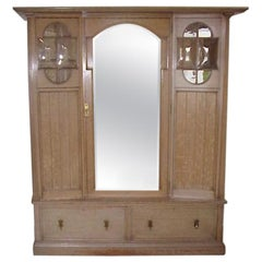 Waring & Gillows George Walton Style of, Arts & Crafts Wardrobe & Dressing Table