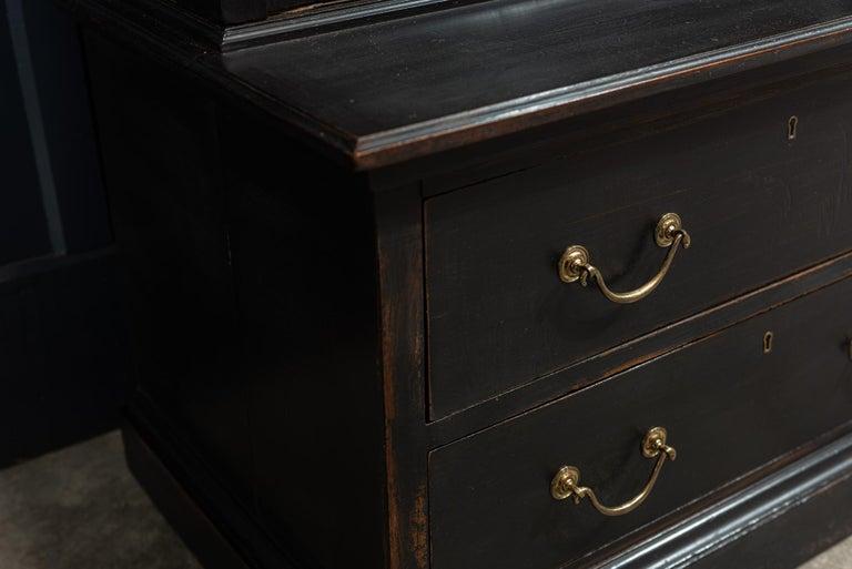 Waring & Gillows Glazed Ebonised Mahogany Bookcase For Sale 6