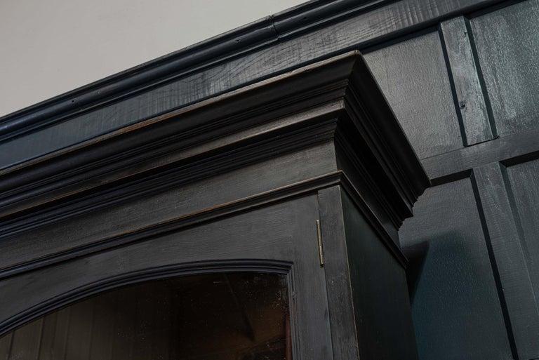 Waring & Gillows Glazed Ebonised Mahogany Bookcase For Sale 12
