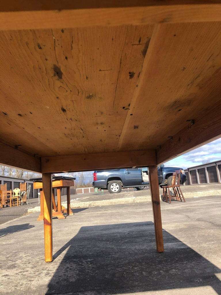 Warm and Welcoming Maine Rustic Pine Farm Table 5