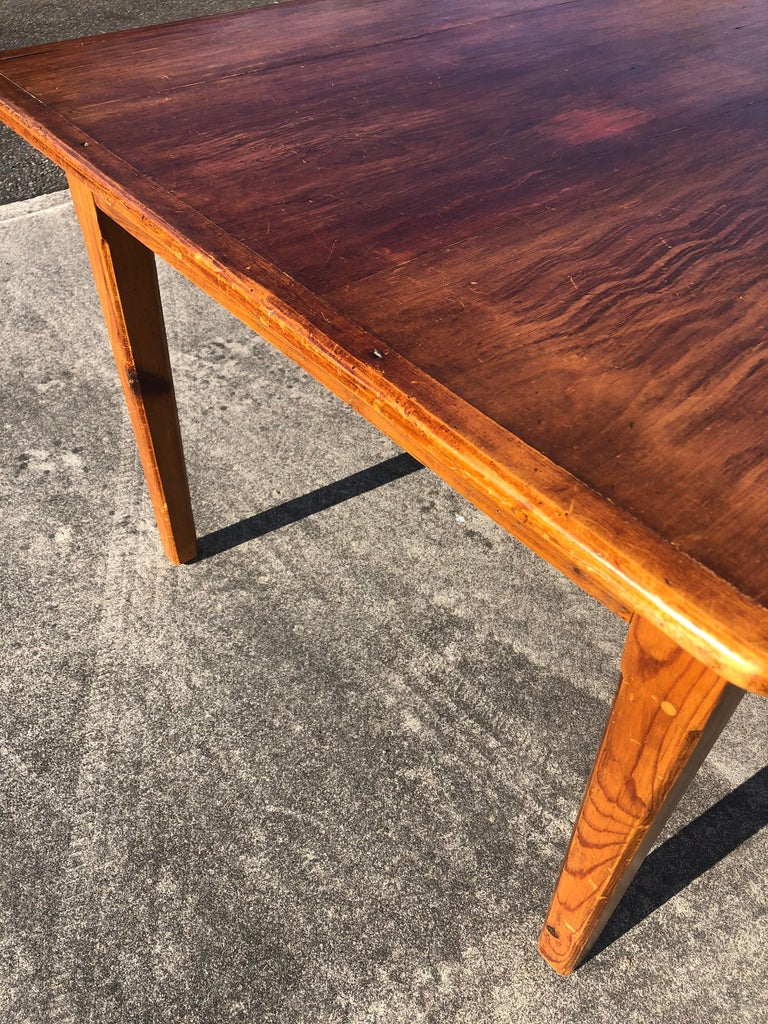 Warm and Welcoming Maine Rustic Pine Farm Table 7