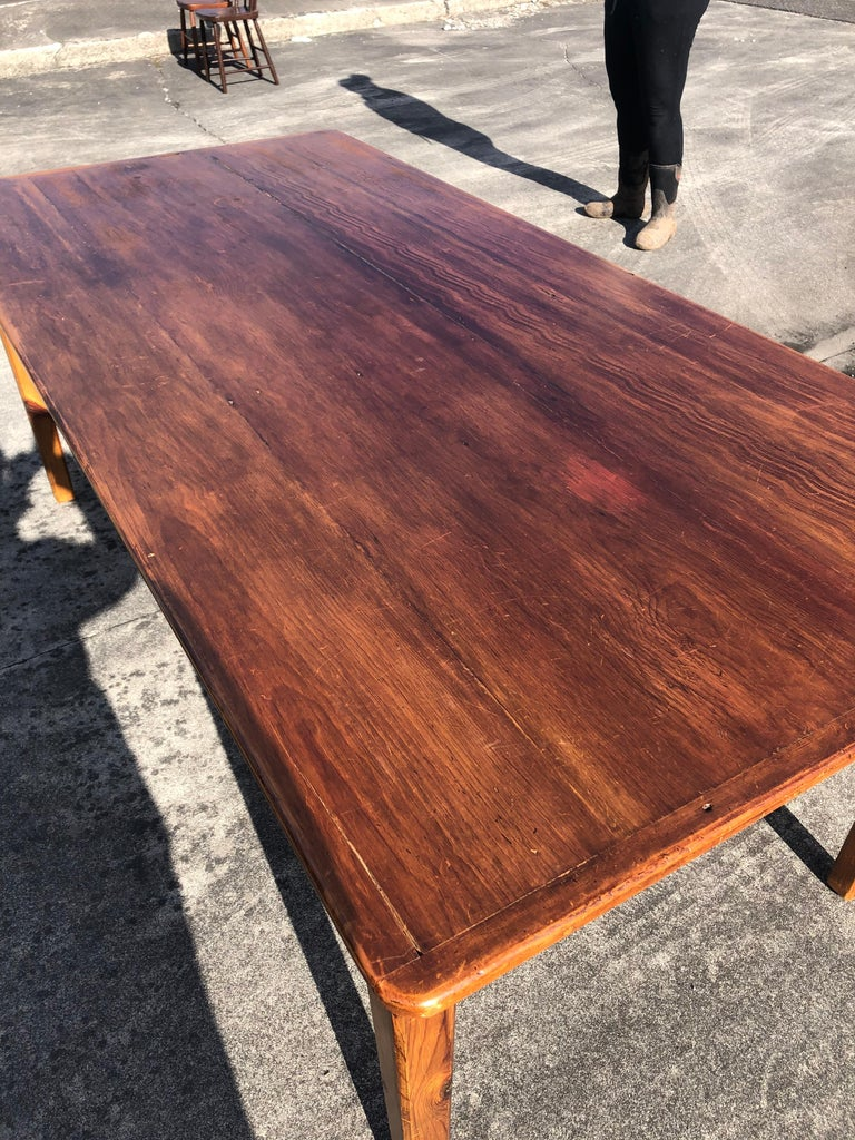American Warm and Welcoming Maine Rustic Pine Farm Table