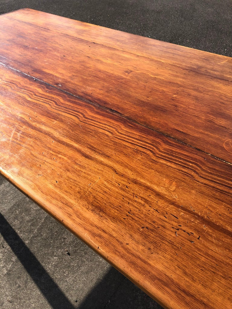 Late 20th Century Warm and Welcoming Maine Rustic Pine Farm Table