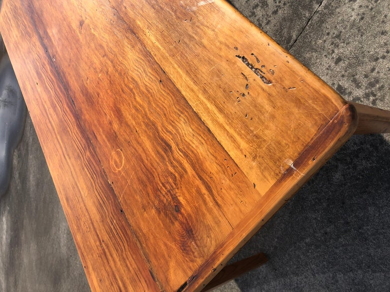 Warm and Welcoming Maine Rustic Pine Farm Table 2