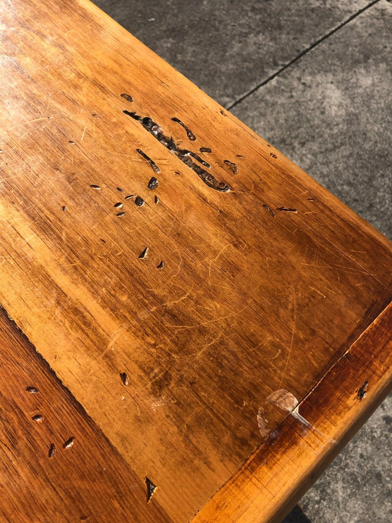 Warm and Welcoming Maine Rustic Pine Farm Table 4