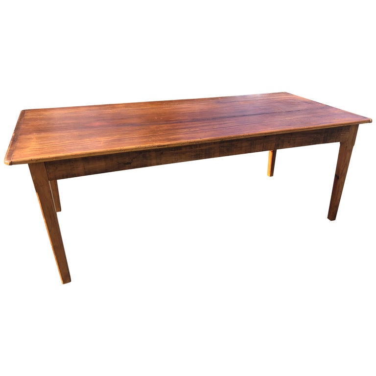 Warm and Welcoming Maine Rustic Pine Farm Table