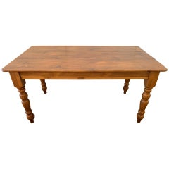 Warm and Welcoming Pine Farm Table from Maine