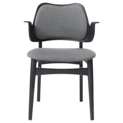 Warm Nordic Gesture Monochrome Fully Upholstered Chair in Black, by Hans Olsen