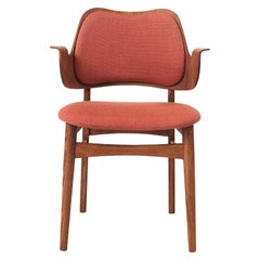 Warm Nordic Gesture Monochrome Fully Upholstered Chair in Teak Oak, Hans Olsen