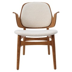 Warm Nordic Gesture Monochrome Fully Upholstered Lounge Chair in Teak Oak