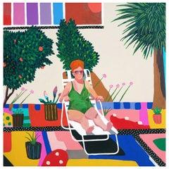 'Warm Oranges' Portrait Painting by Alan Fears Pop Art