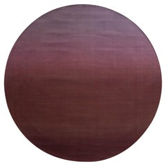 Warm Red Sunset Hues Resistant Modern Circular Rug by Deanna Comellini