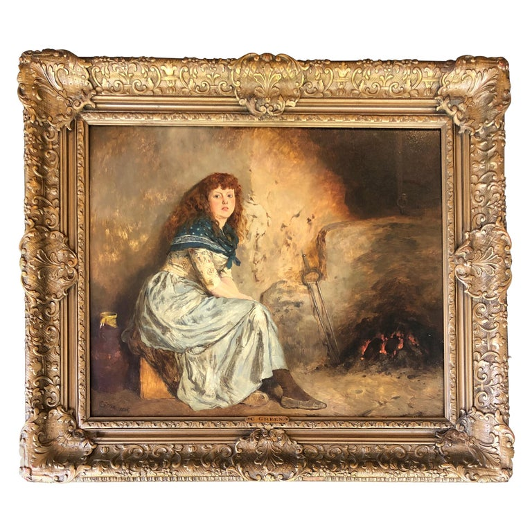 """""""Warming by the Fire"""" by Charles Green For Sale"""