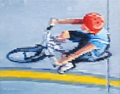 Aerial View of Child Riding Bicycle