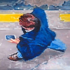 Cowboy Boots and Cell Phone, Oil Painting