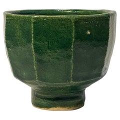 Warren MacKenzie Green Faceted Bowl