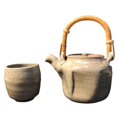 Warren MacKenzie Grey Teapot and Grey Yunomi