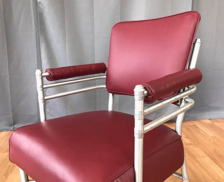 Warren McArthur Art Deco Aluminum Armchair, 1930s For Sale 5