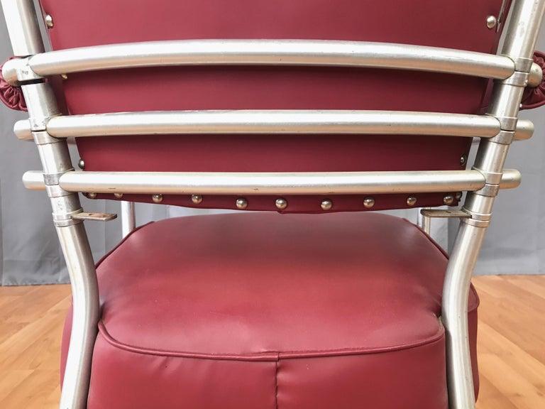 Warren McArthur Art Deco Aluminum Armchair, 1930s For Sale 9