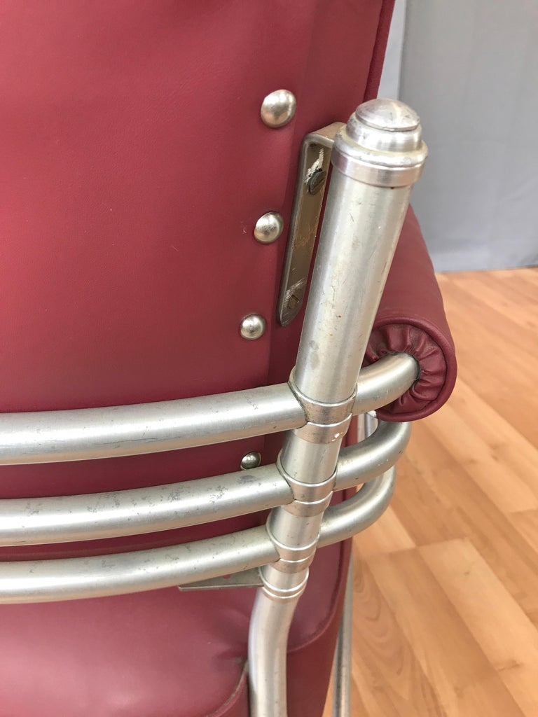 Warren McArthur Art Deco Aluminum Armchair, 1930s For Sale 10