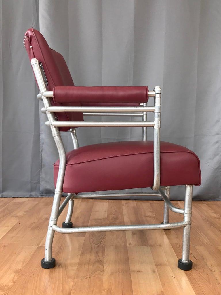 Anodized Warren McArthur Art Deco Aluminum Armchair, 1930s For Sale