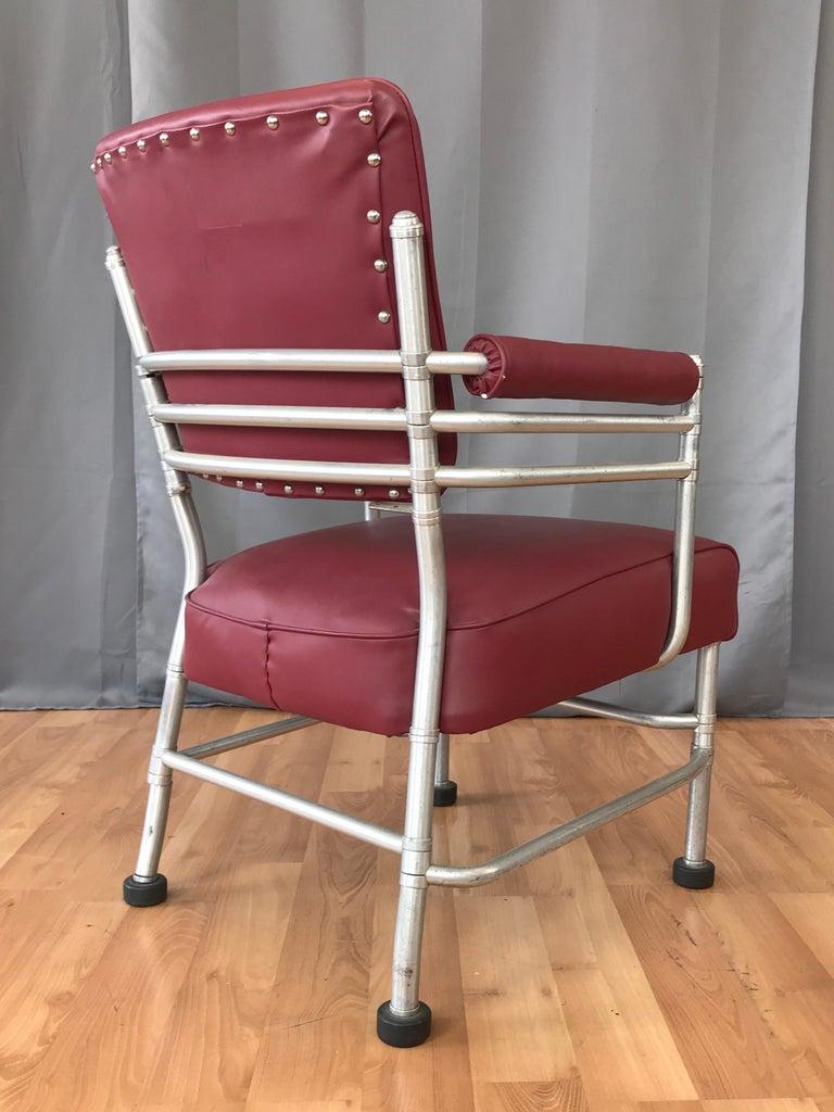 Warren McArthur Art Deco Aluminum Armchair, 1930s In Good Condition For Sale In San Francisco, CA