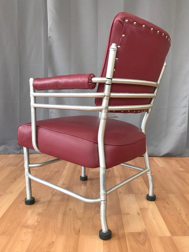 Steel Warren McArthur Art Deco Aluminum Armchair, 1930s For Sale