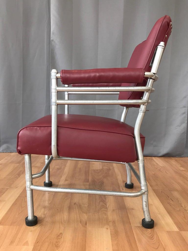 Warren McArthur Art Deco Aluminum Armchair, 1930s For Sale 1