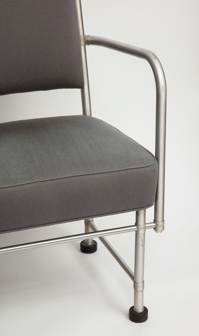 Warren McArthur Art Deco Machine Age Aluminum Armchair, 1940s For Sale 6
