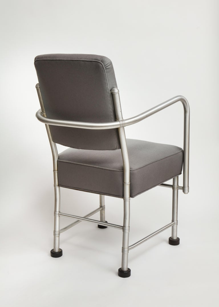 Warren McArthur Art Deco Machine Age Aluminum Armchair, 1930s In Good Condition For Sale In New York, NY