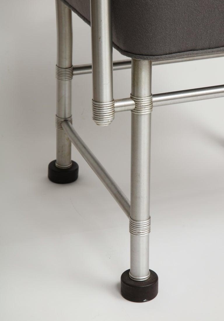Warren McArthur Art Deco Machine Age Aluminum Armchair, 1940s For Sale 4