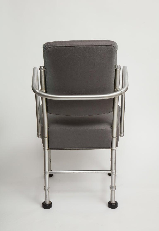 Warren McArthur Art Deco Machine Age Aluminum Armchair, 1940s For Sale 5